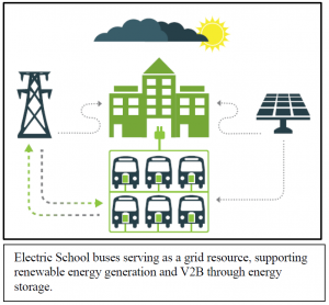 Electric School bus graphic 1