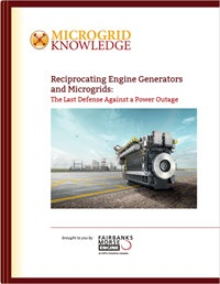 reciprocating engine generators and microgrids