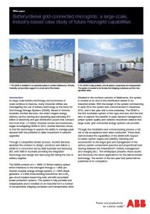 Battery Diesel Grid-connected Microgrids