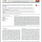 Evaluating business models for microgrids: Interactions of technology and policy