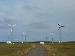 wind-powered community microgrid