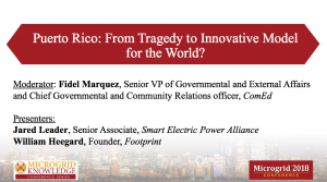 Puerto Rico's microgrids