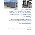 Lessons Learned from Installing Battery Energy Into an Existing PV Array