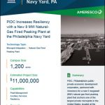 PIDC Increases Resiliency with a New 8 MW Natural-Gas Fired Peaking Plant at the Philadelphia Navy Yard